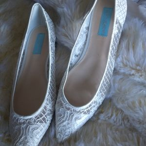 Blu by Betsy Johnson Bridal flats